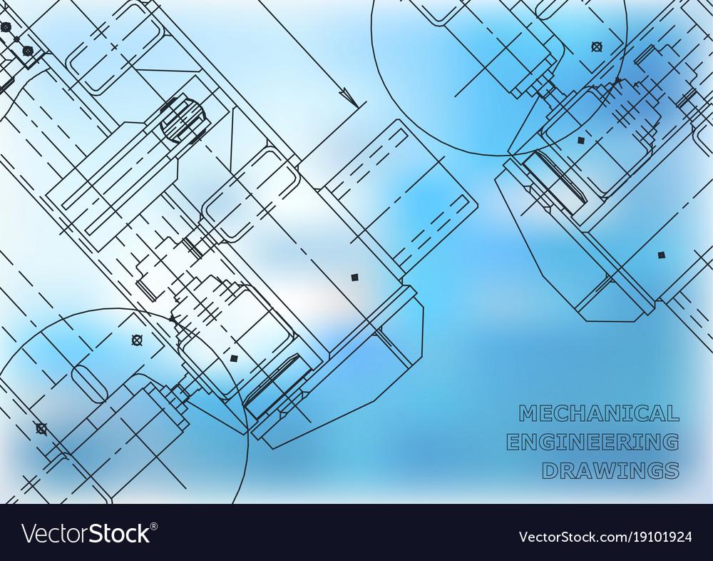Mechanical engineering drawing blueprints vector image malvernweather Image collections
