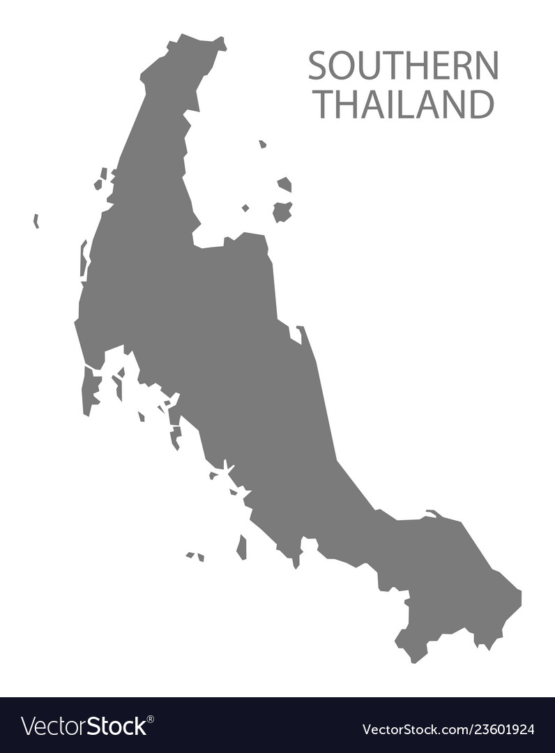 Southern thailand map grey