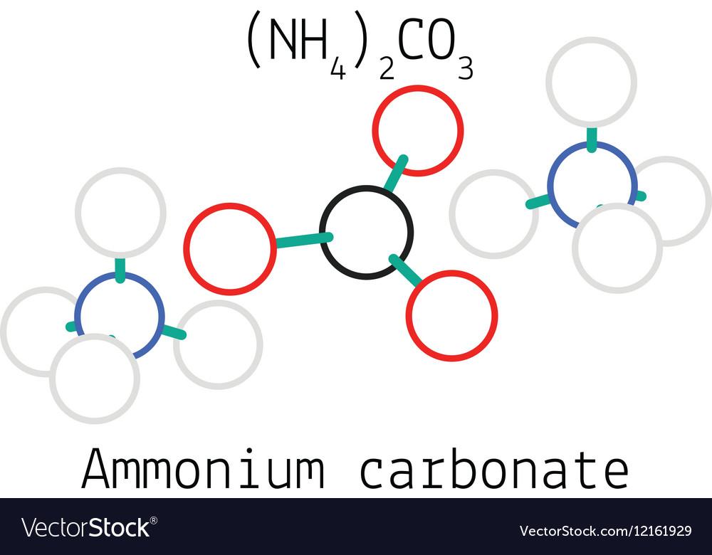 Ammonium Carbonate N2h8co3 Molecule Royalty Free Vector