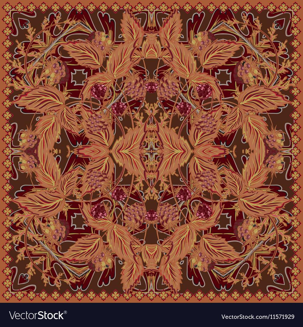 Design for tablecloth shawl textile pocket vector image
