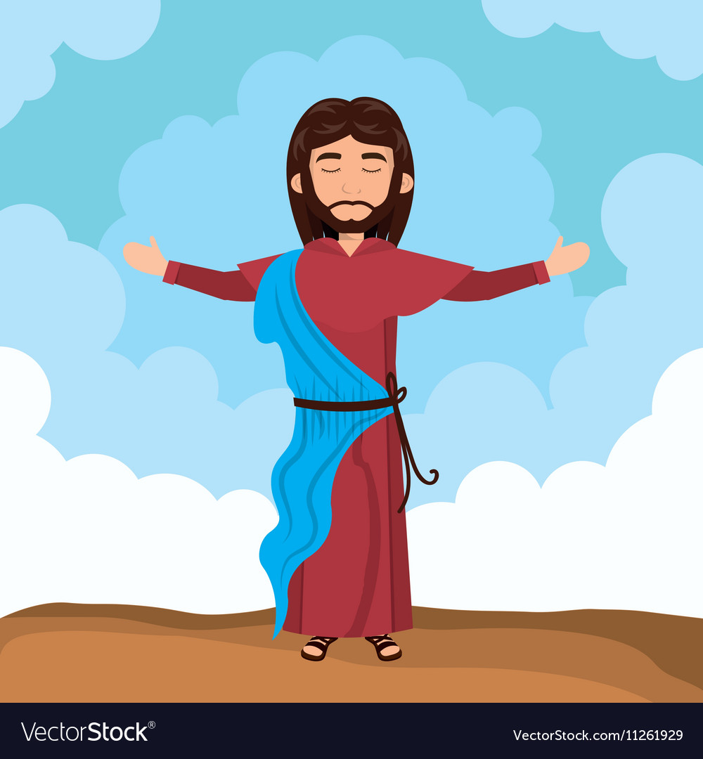 Jesus christ religion vector image