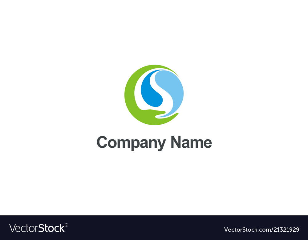 Save ecology water nature hand company logo