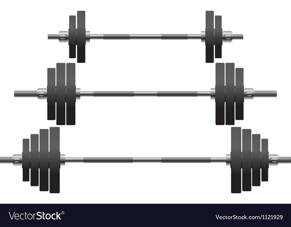 Set of weights vector image
