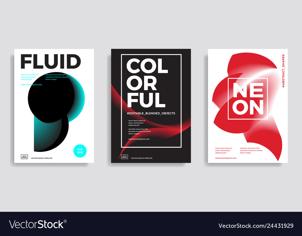 Trendy design templates with gradient shapes