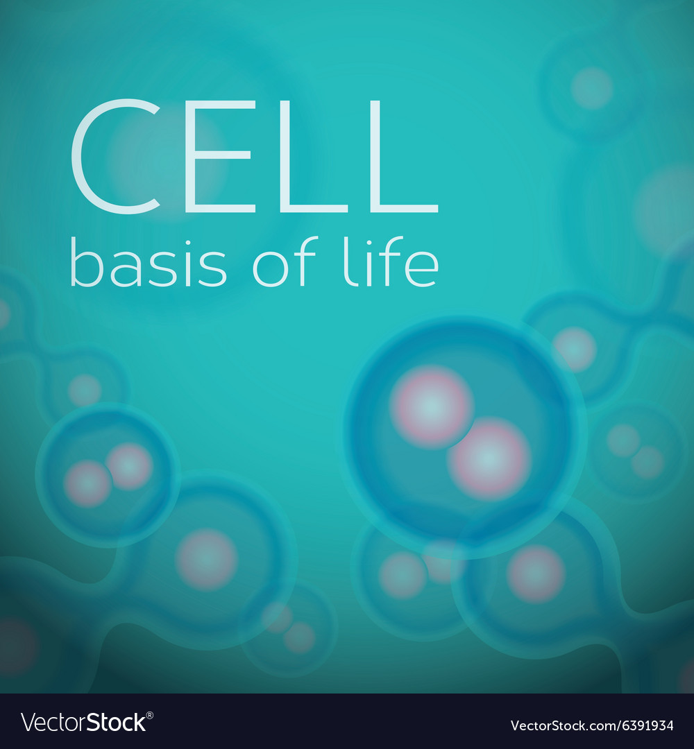 Abstract background with cells in dividing phase