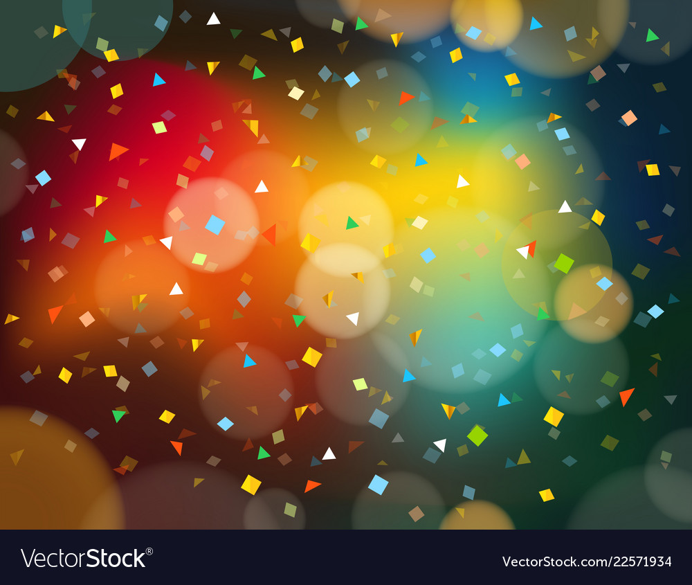 Abstract colorful background with confetti and