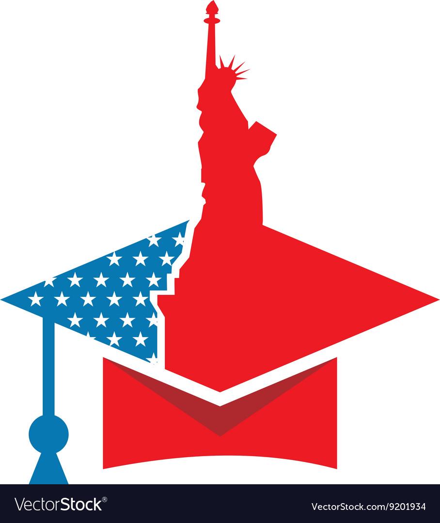 America USA logo Liberty icon vector image