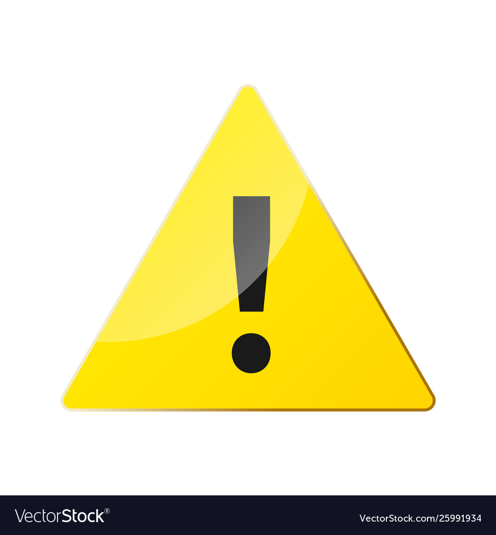 Attention pictogram yellow triangle with