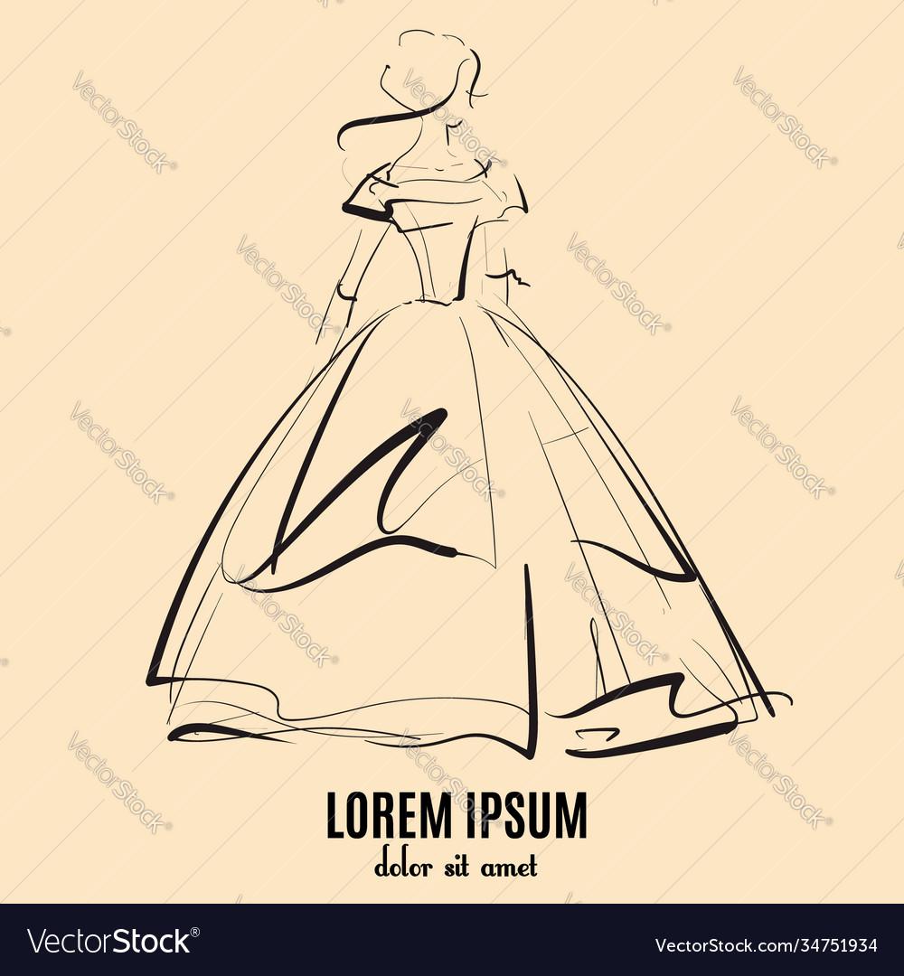Beautiful girl in vintage wedding dress made in