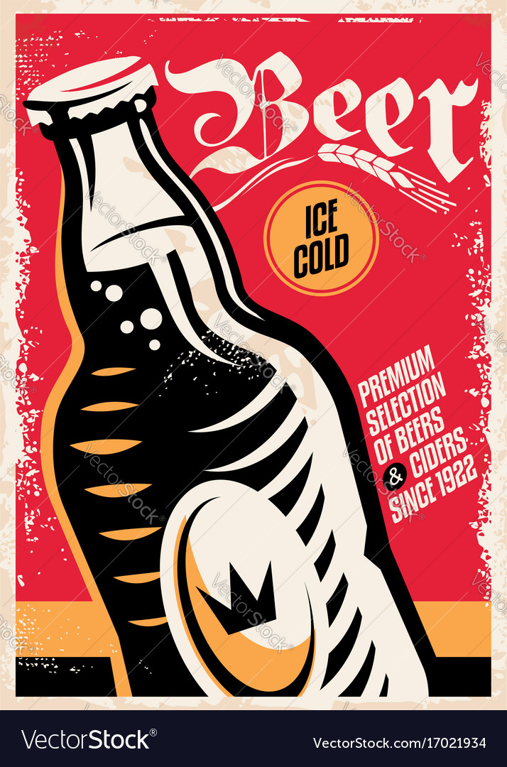 Beer pub poster design