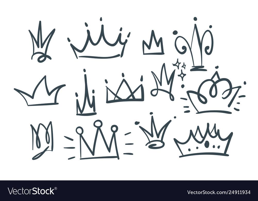 Doodle set crowns