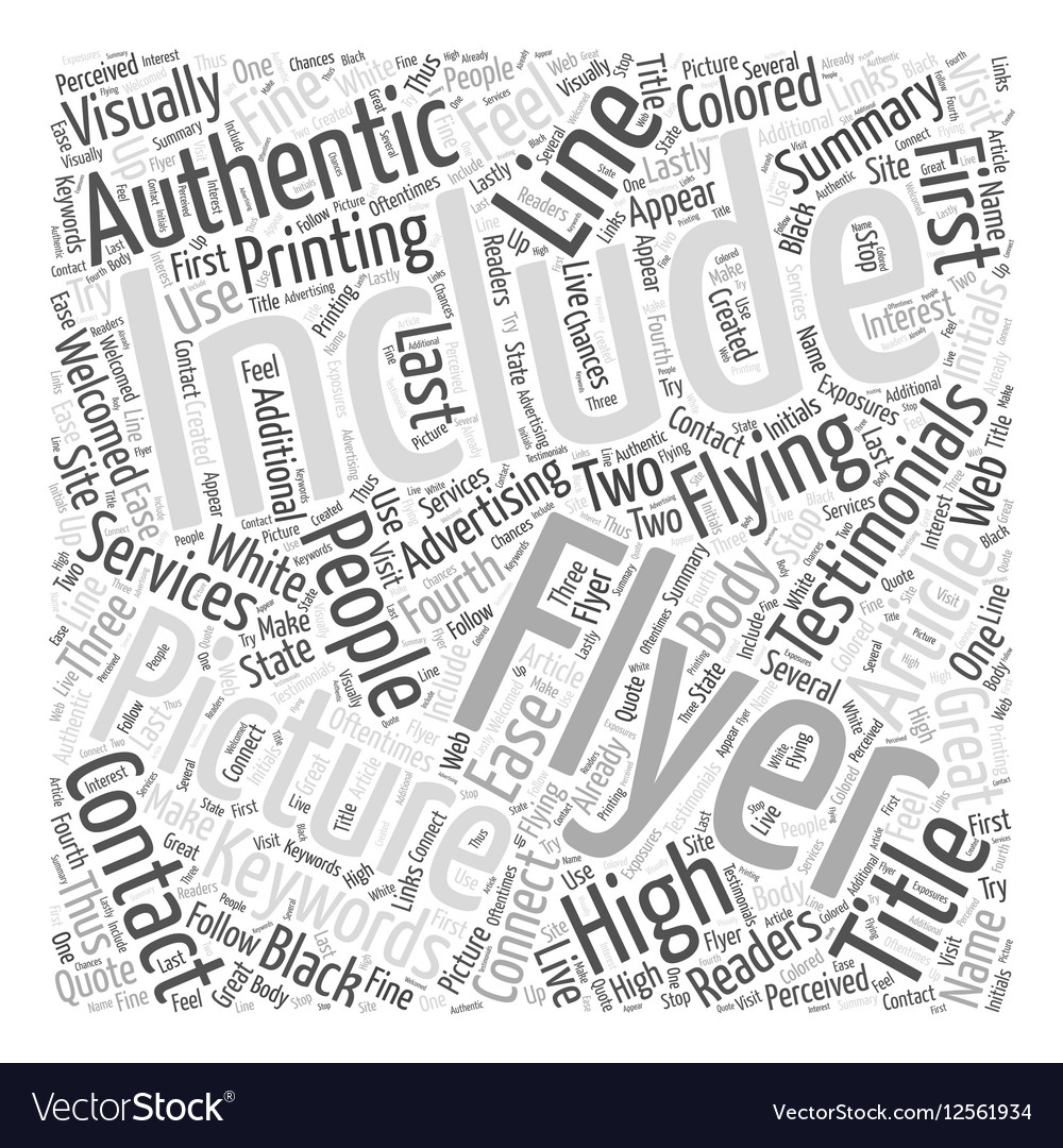 Flying High with Flyers Word Cloud Concept vector image
