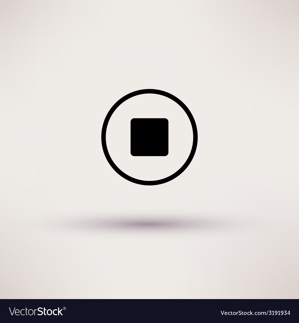 Icon of stop Web Isolated
