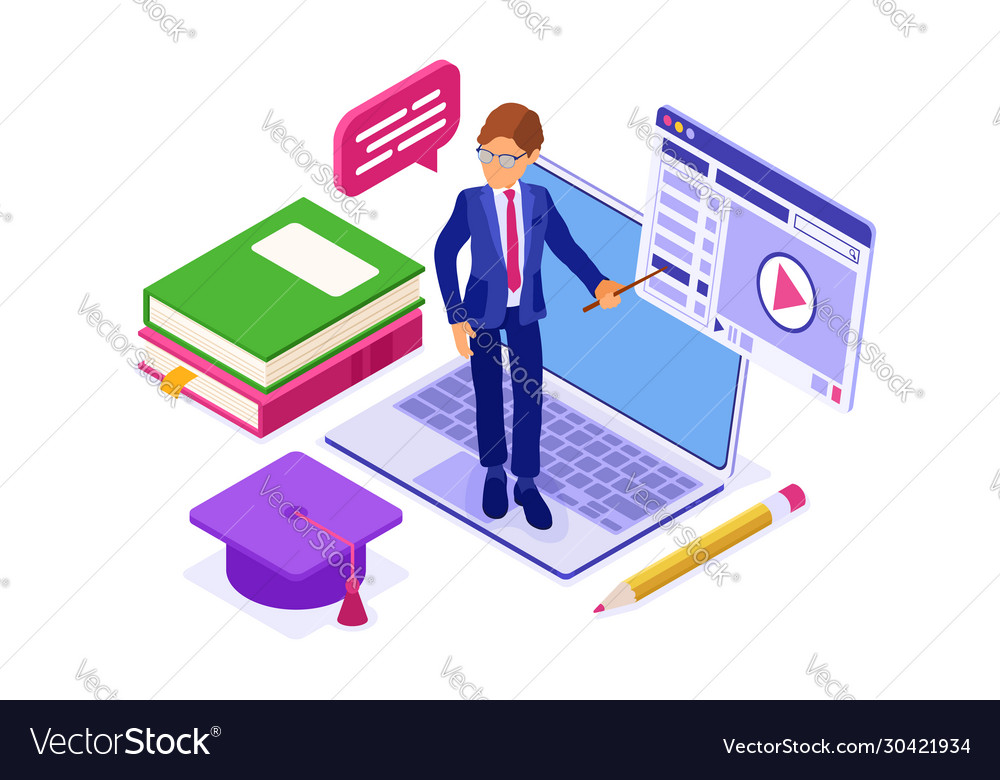 Online distance education from home