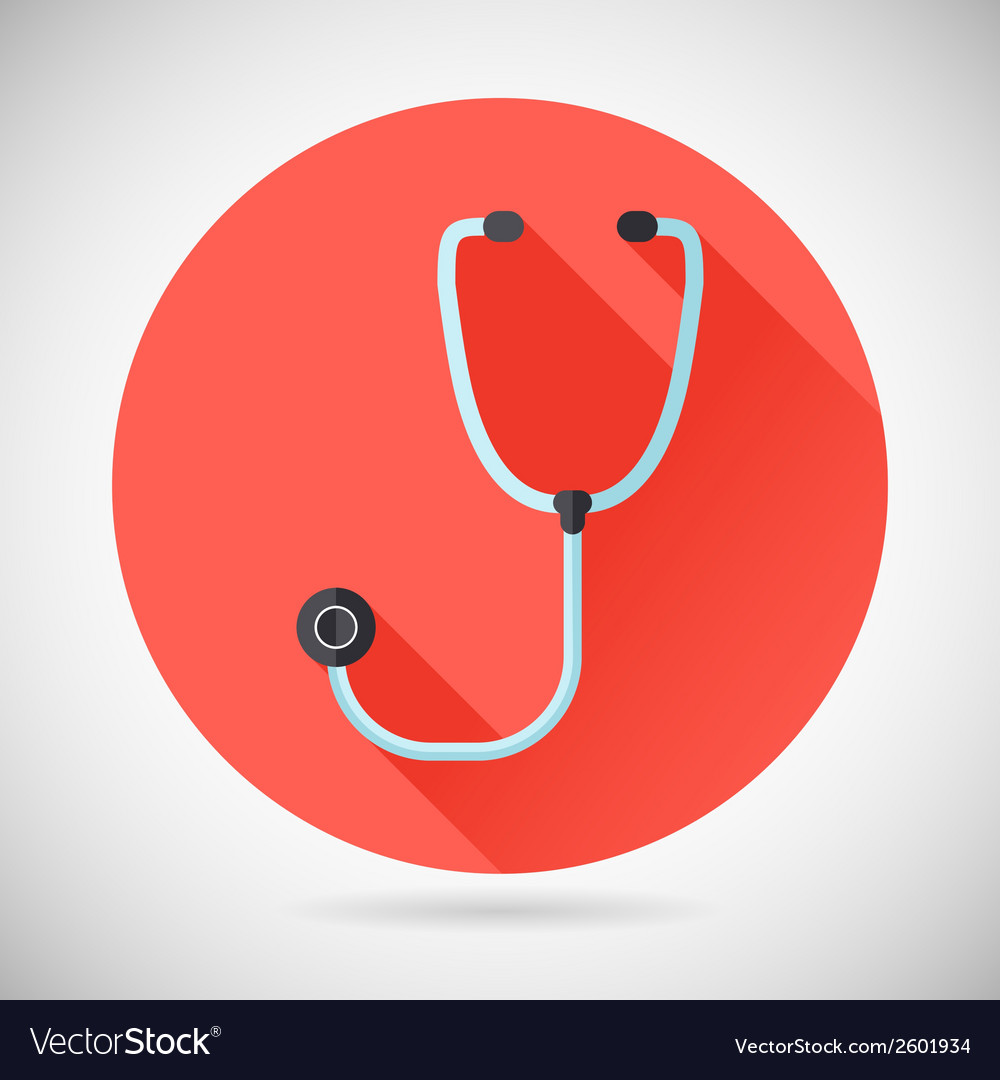 Physician Therapist Care Survey Symbol Stethoscope vector image