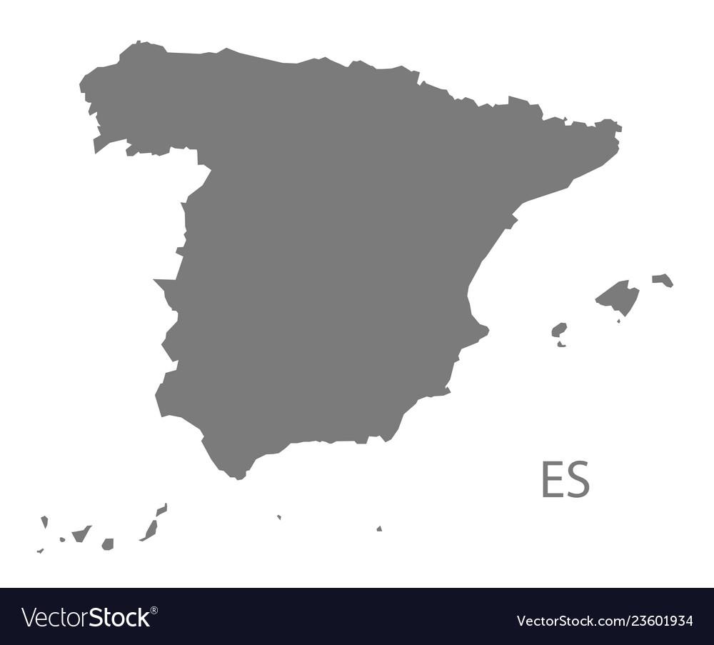 Map Of Spain Vector Free.Spain Map Grey