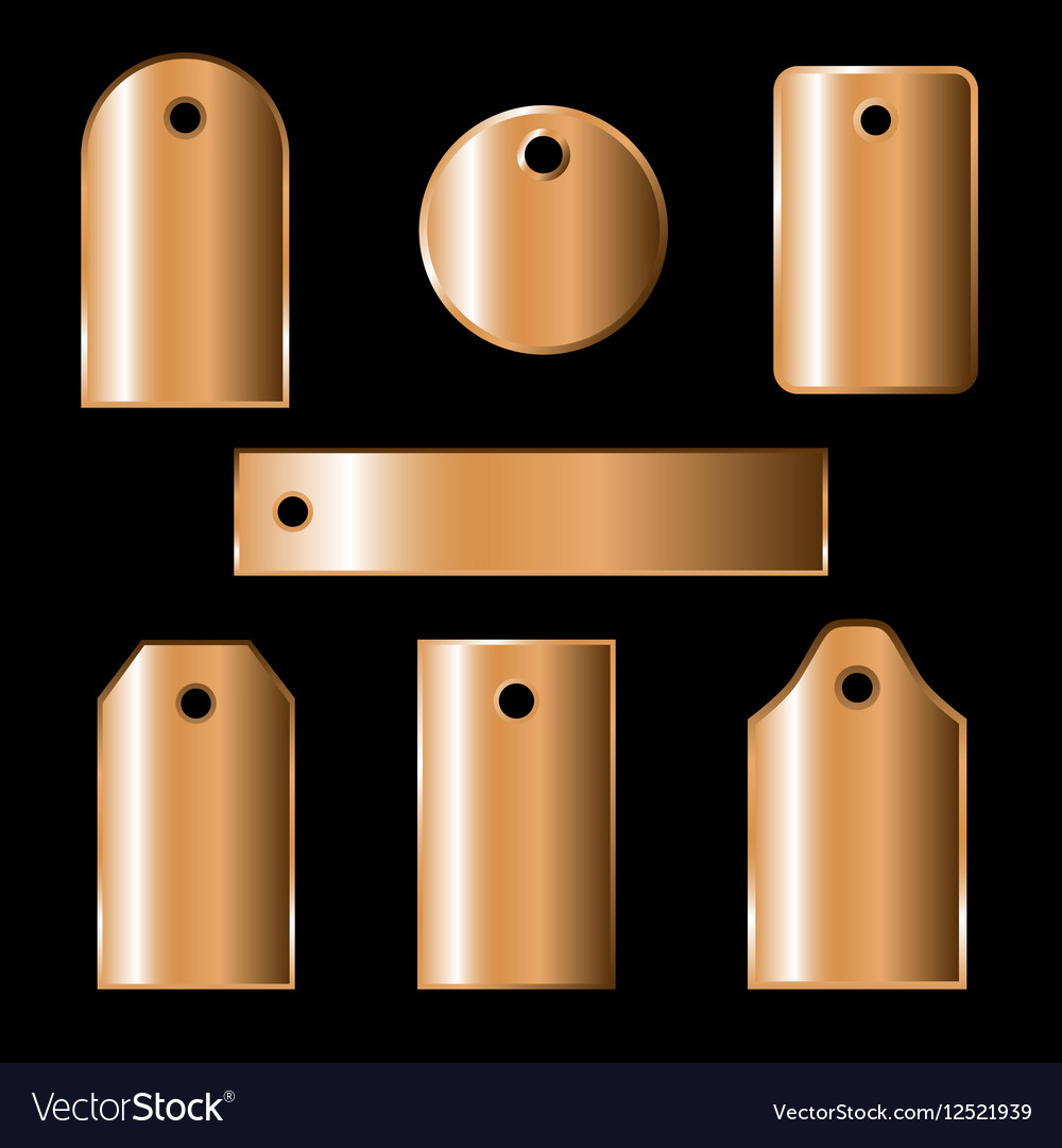 Bronze labels