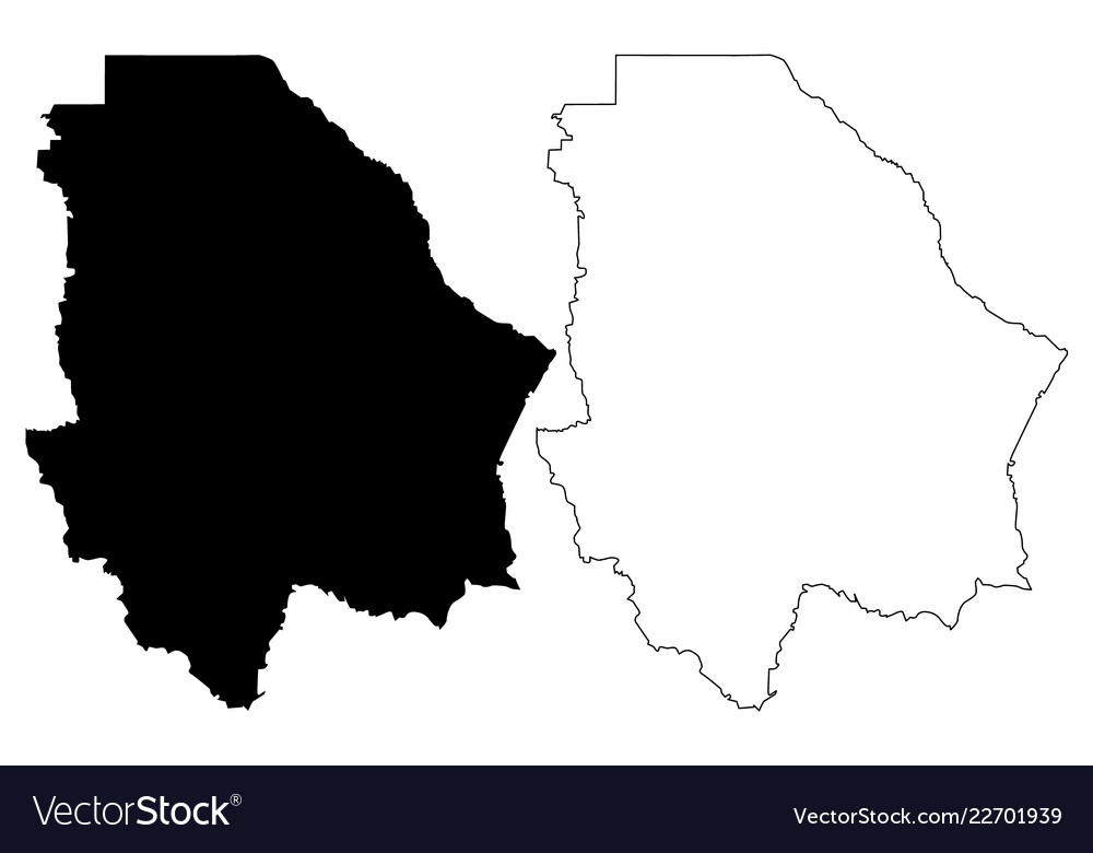Chihuahua state map Royalty Free Vector Image - VectorStock