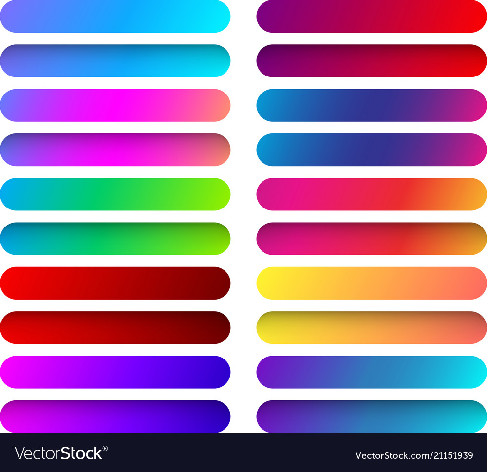 Colorful web button templates isolated on white