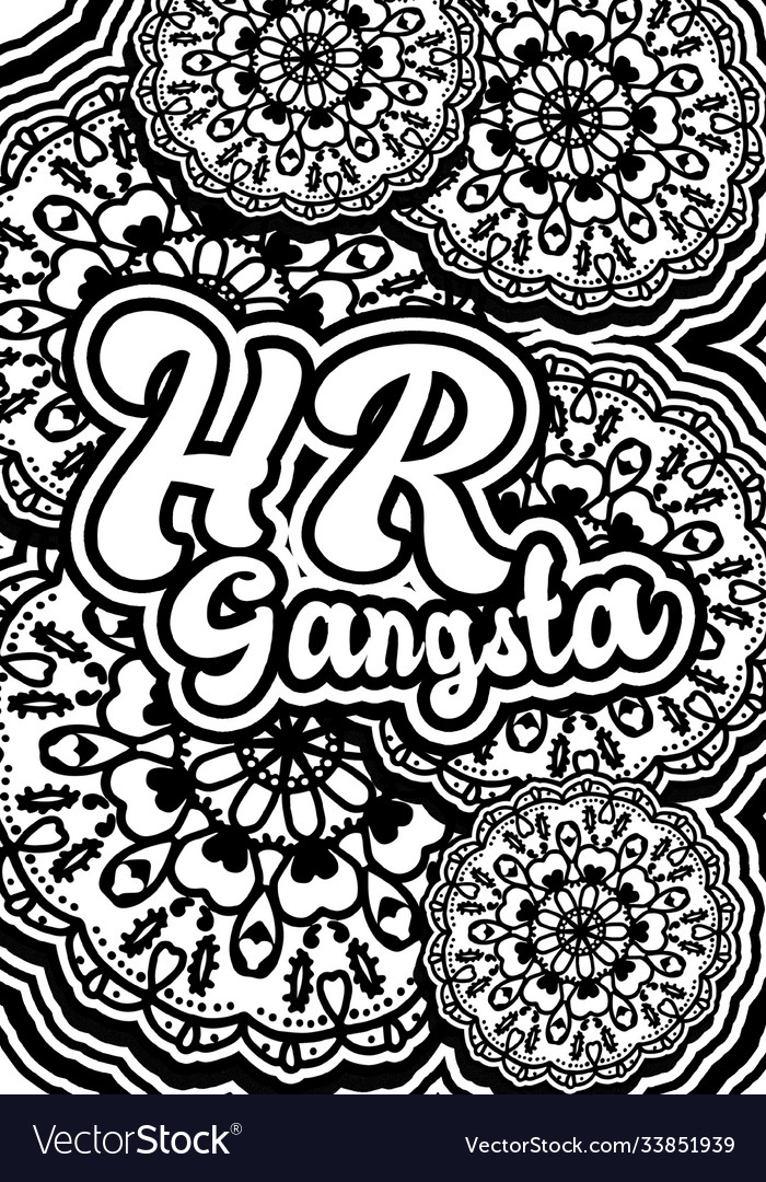 - Coloring Book Page - Hr Gangsta Royalty Free Vector Image
