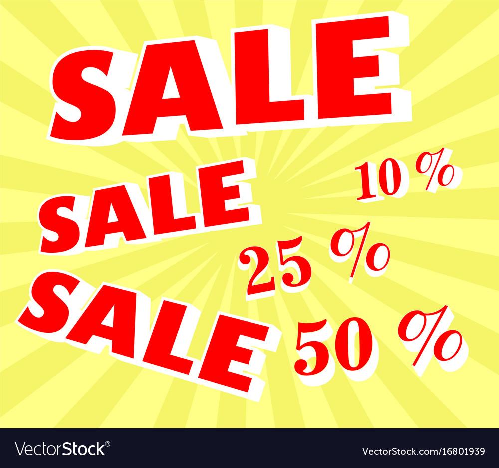 Discount sale announcement vector image