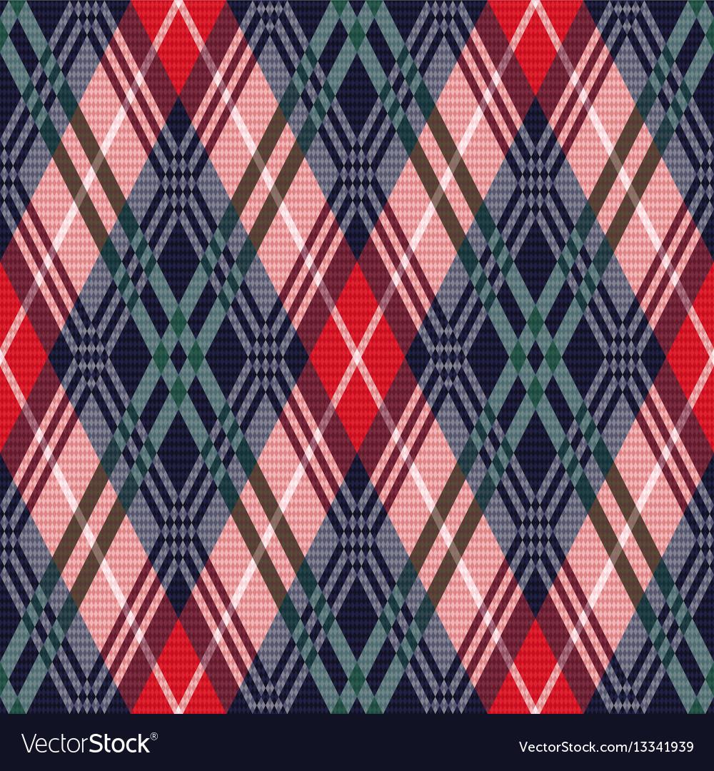 Rhombus tartan seamless texture in various colors