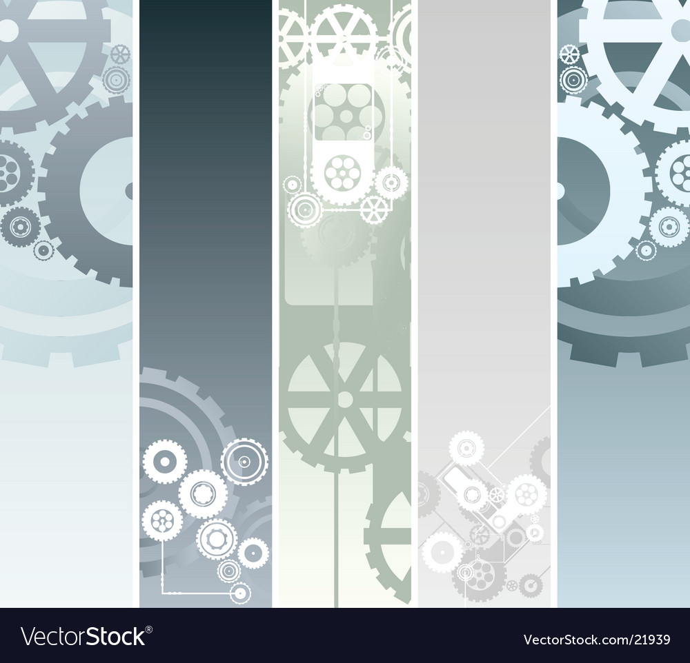 Technological and mechanical banners vector image