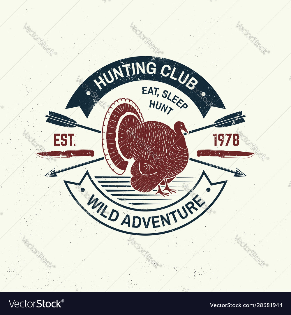 Hunting club badge eat sleep hunt