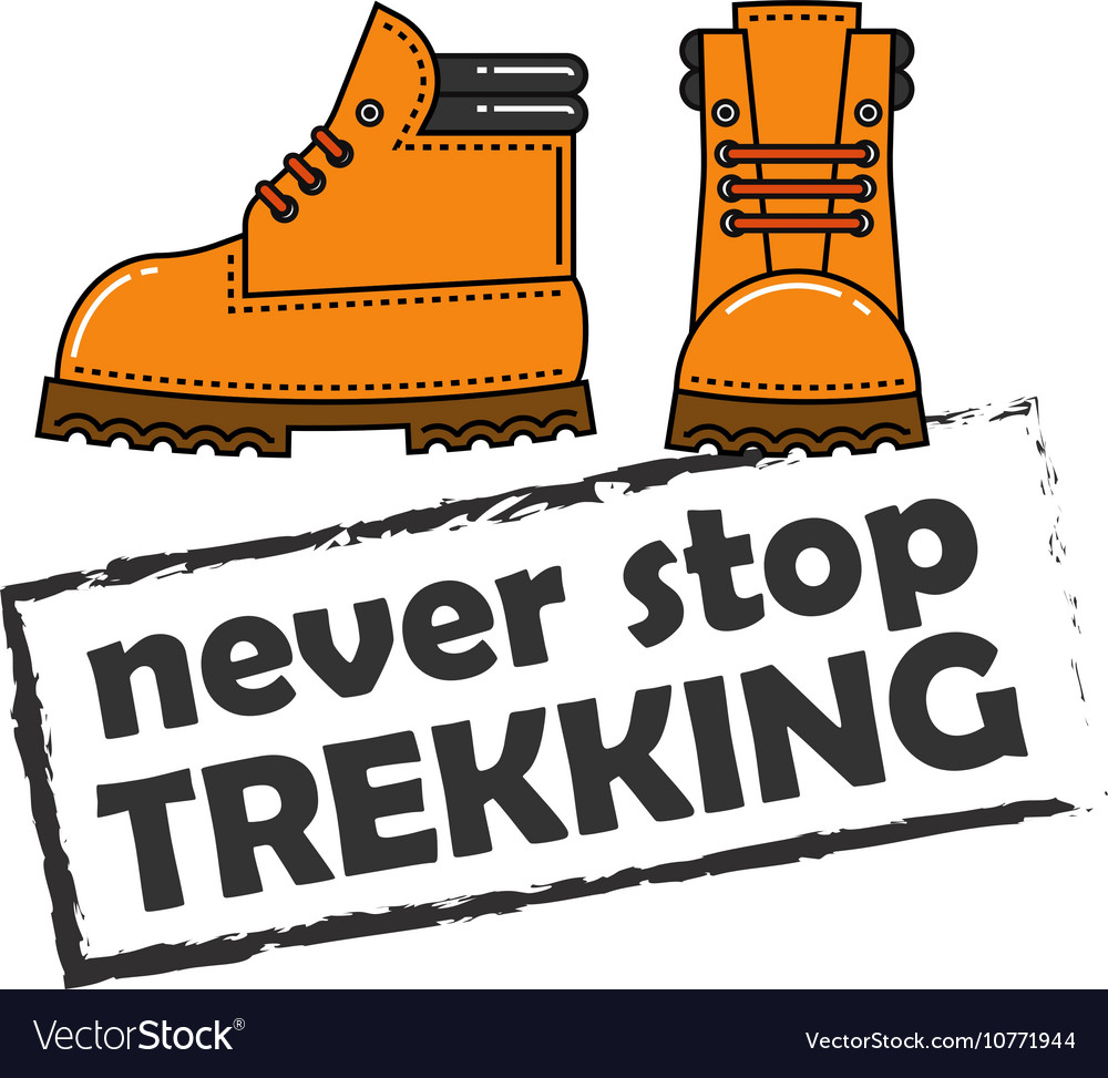 Image of orange trekking boots vector image