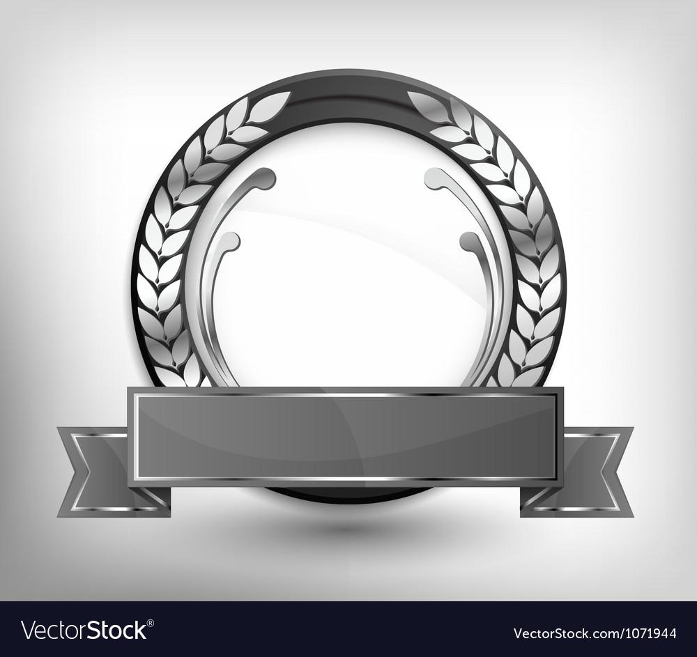 Labels gray shield vector image