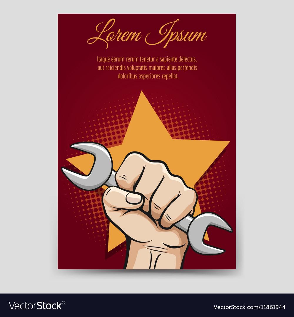 Labor day brochure template