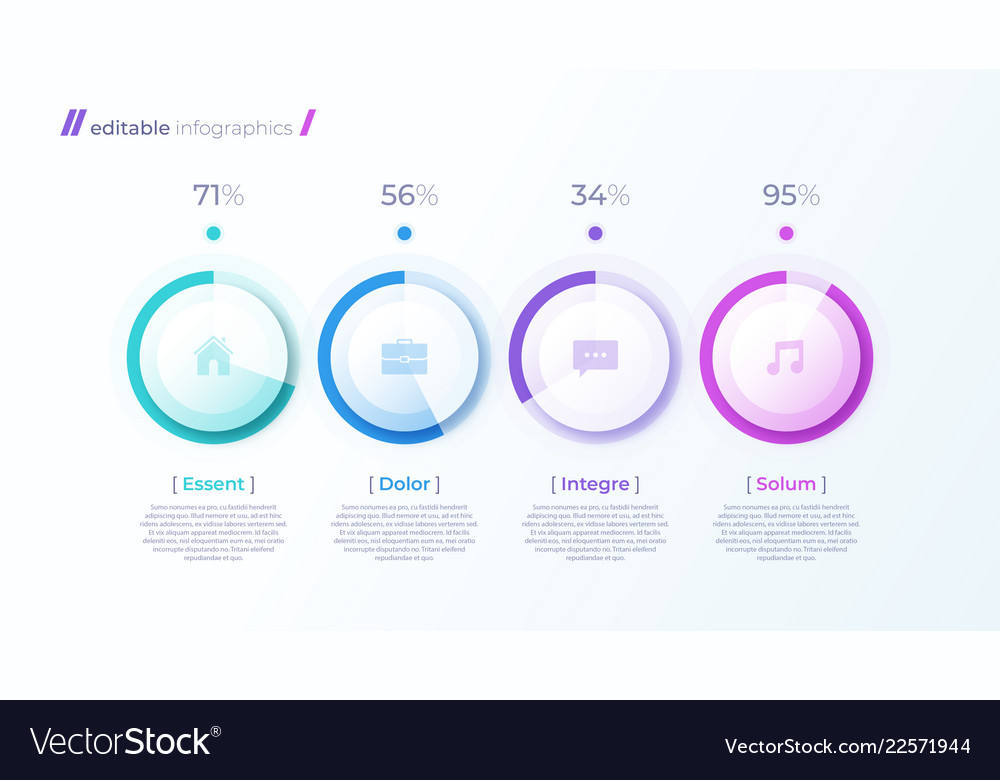 Modern editable infographic template with