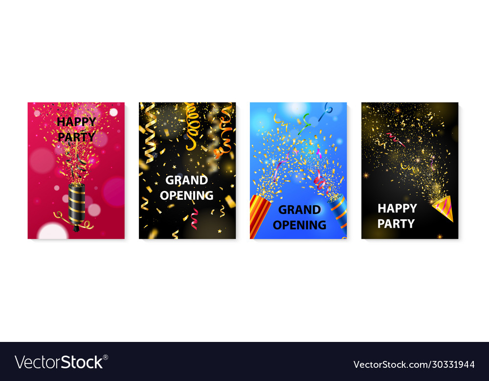 Party popper poster set