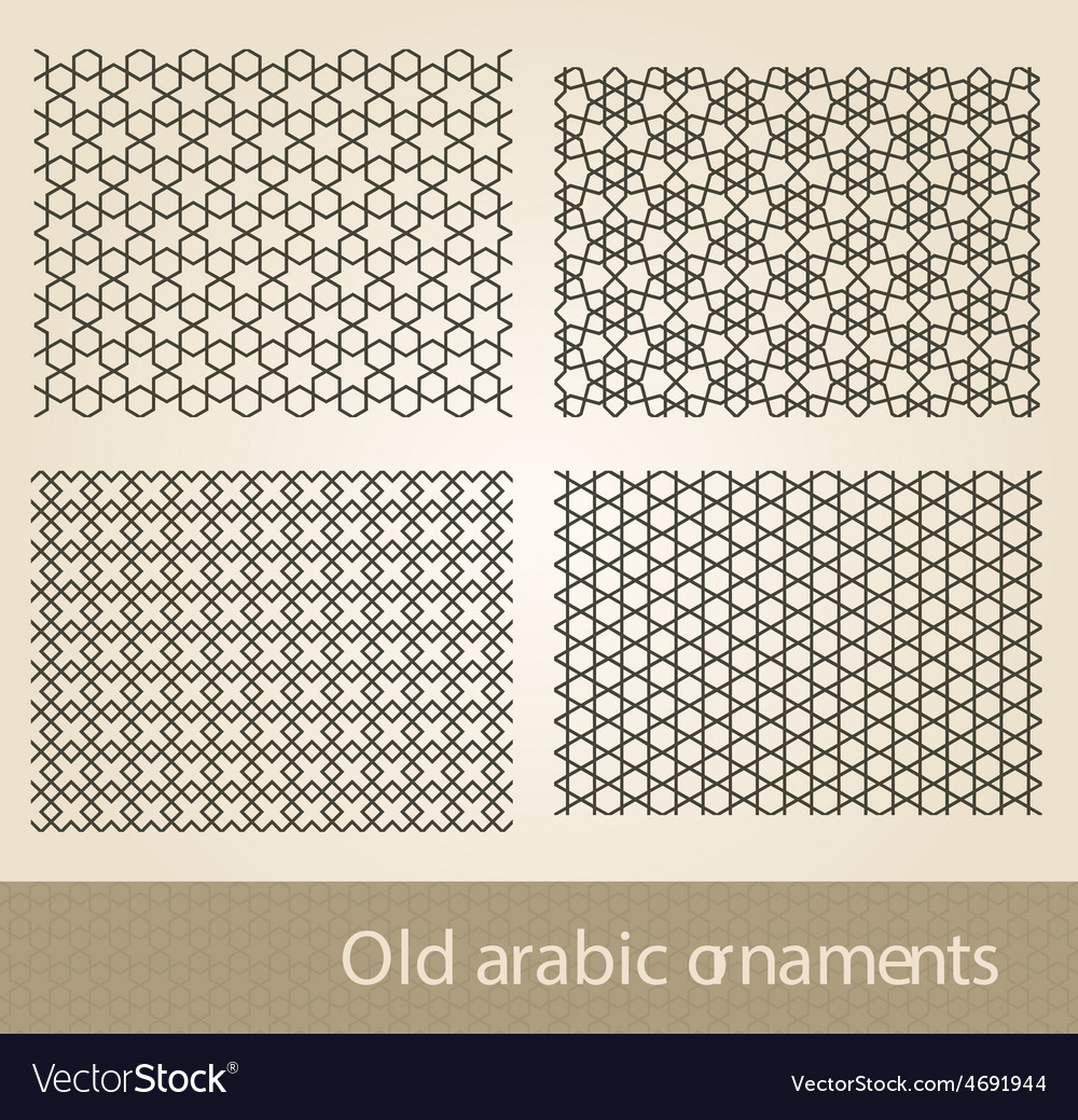 Seamless Islamic background background vector image
