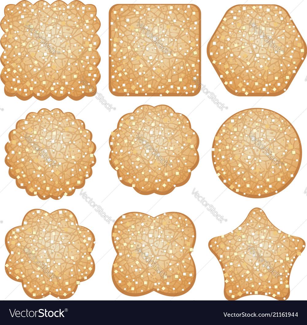 Set of sugar cookies