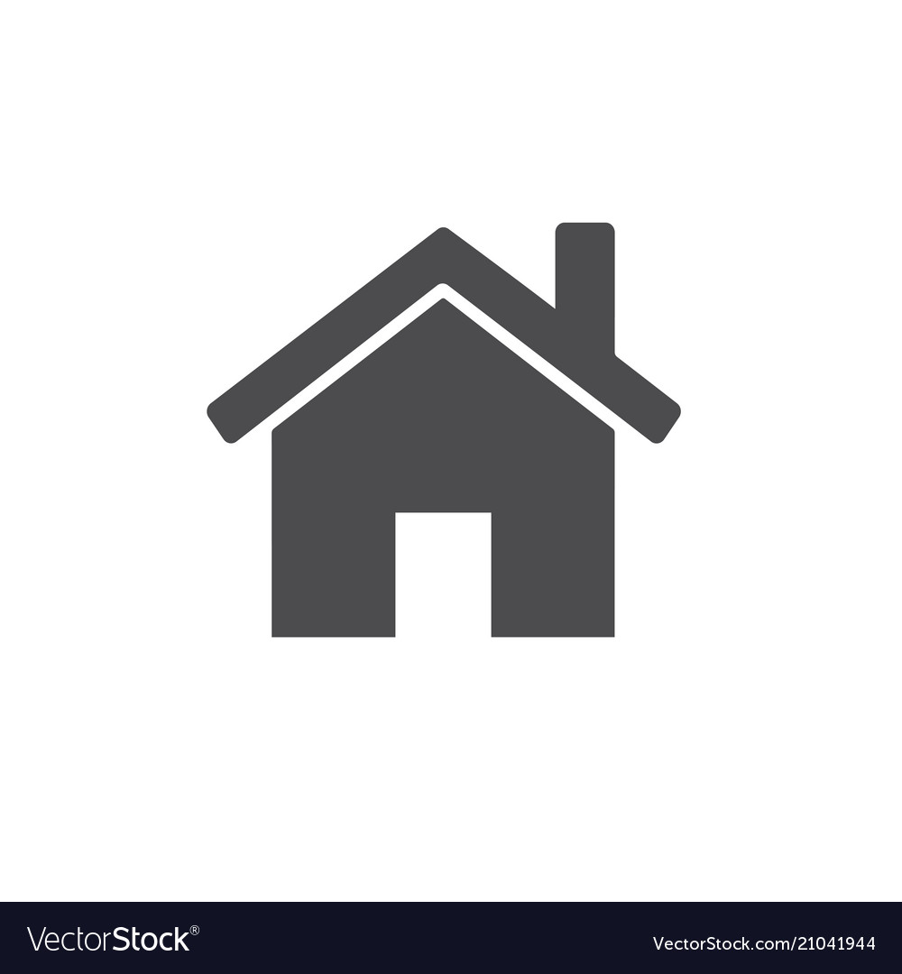 Small house icon for web business finance and