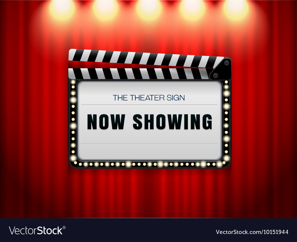 Theater sign slate vector image