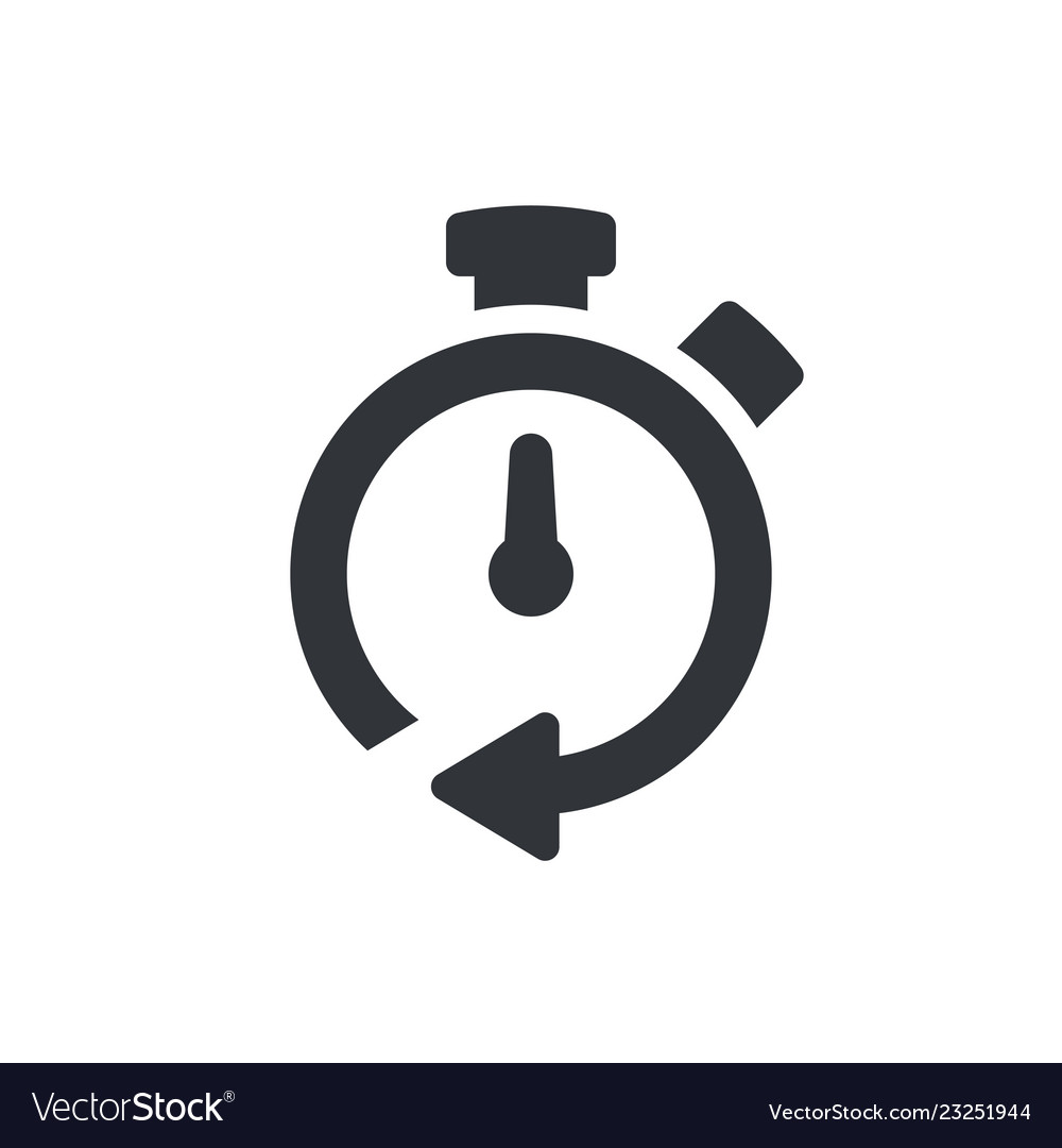Timer icon timer symbol pictogram isolated icon