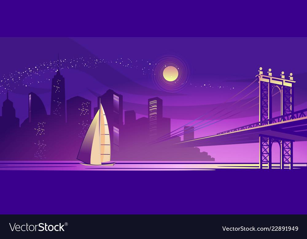 Abstract night city