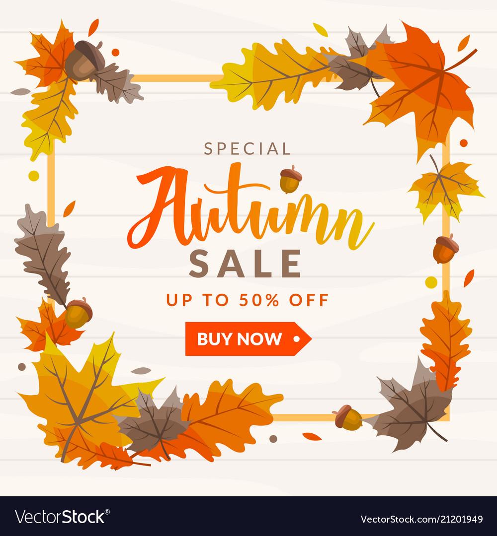 Autumn sale discount template