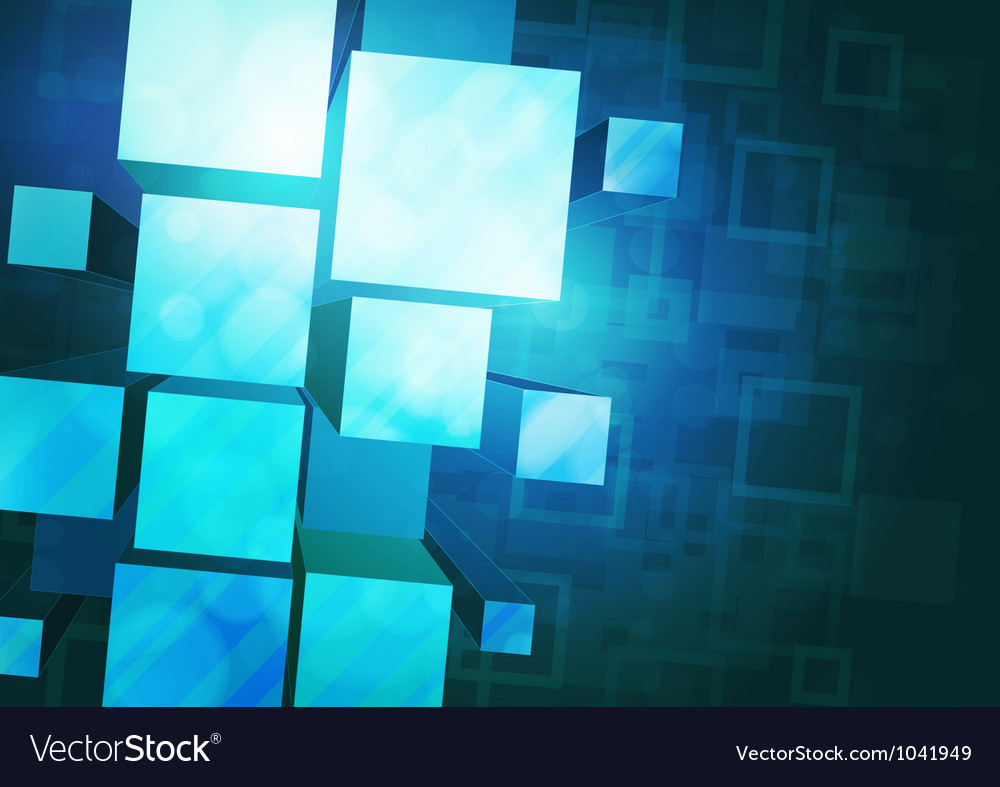 Blue background with prisms vector image