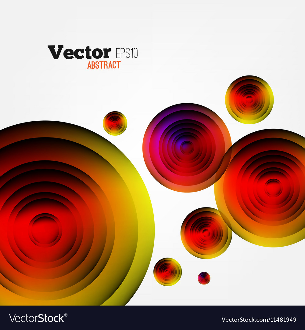 Circular Abstract Geometric Background