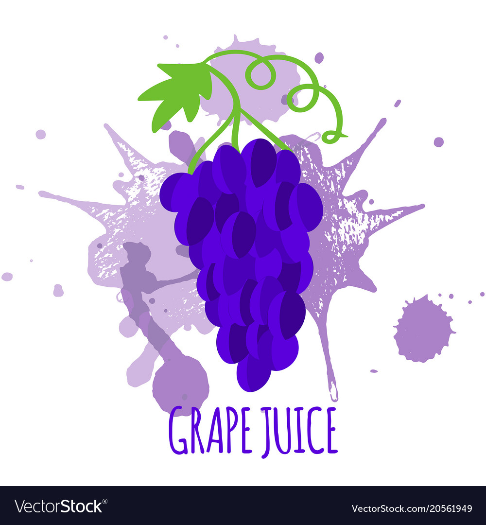Grapes juice package design