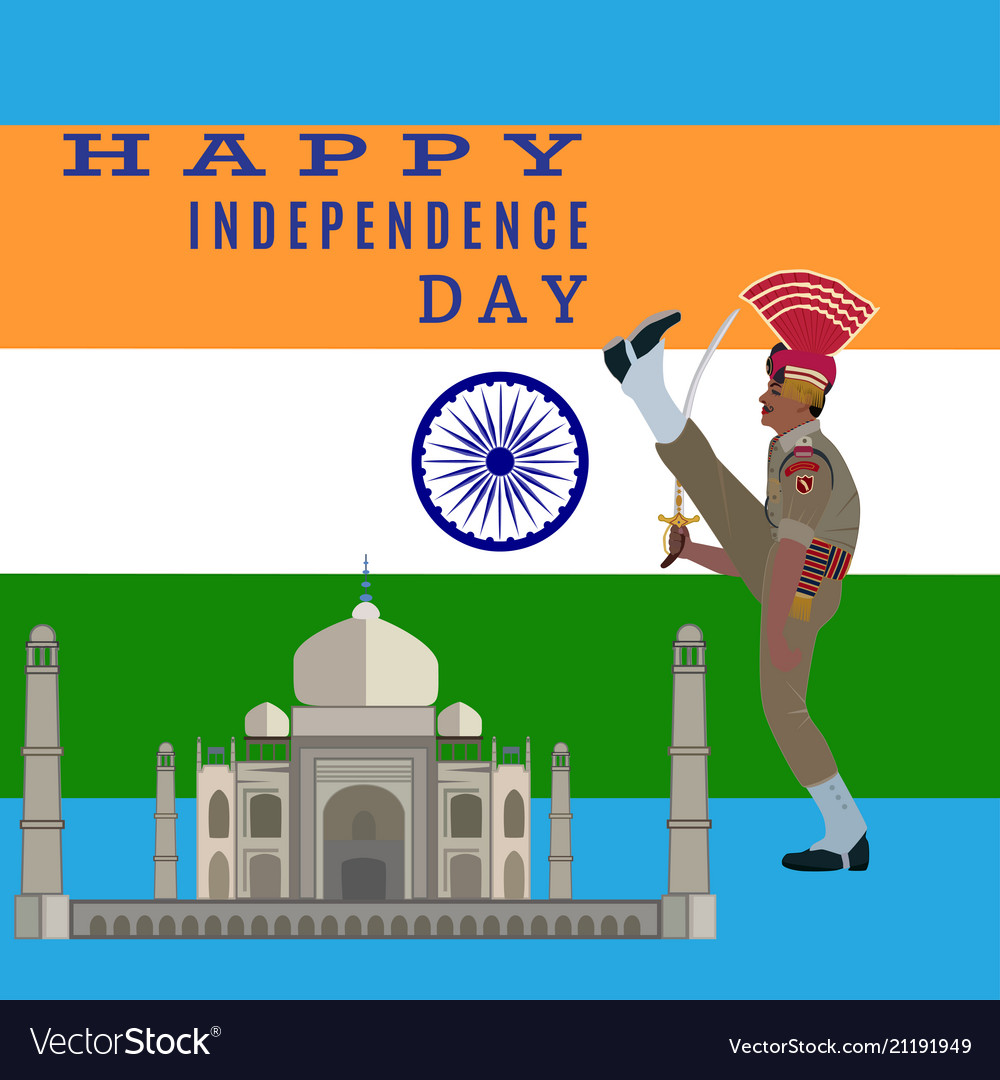 Independence day of india flat