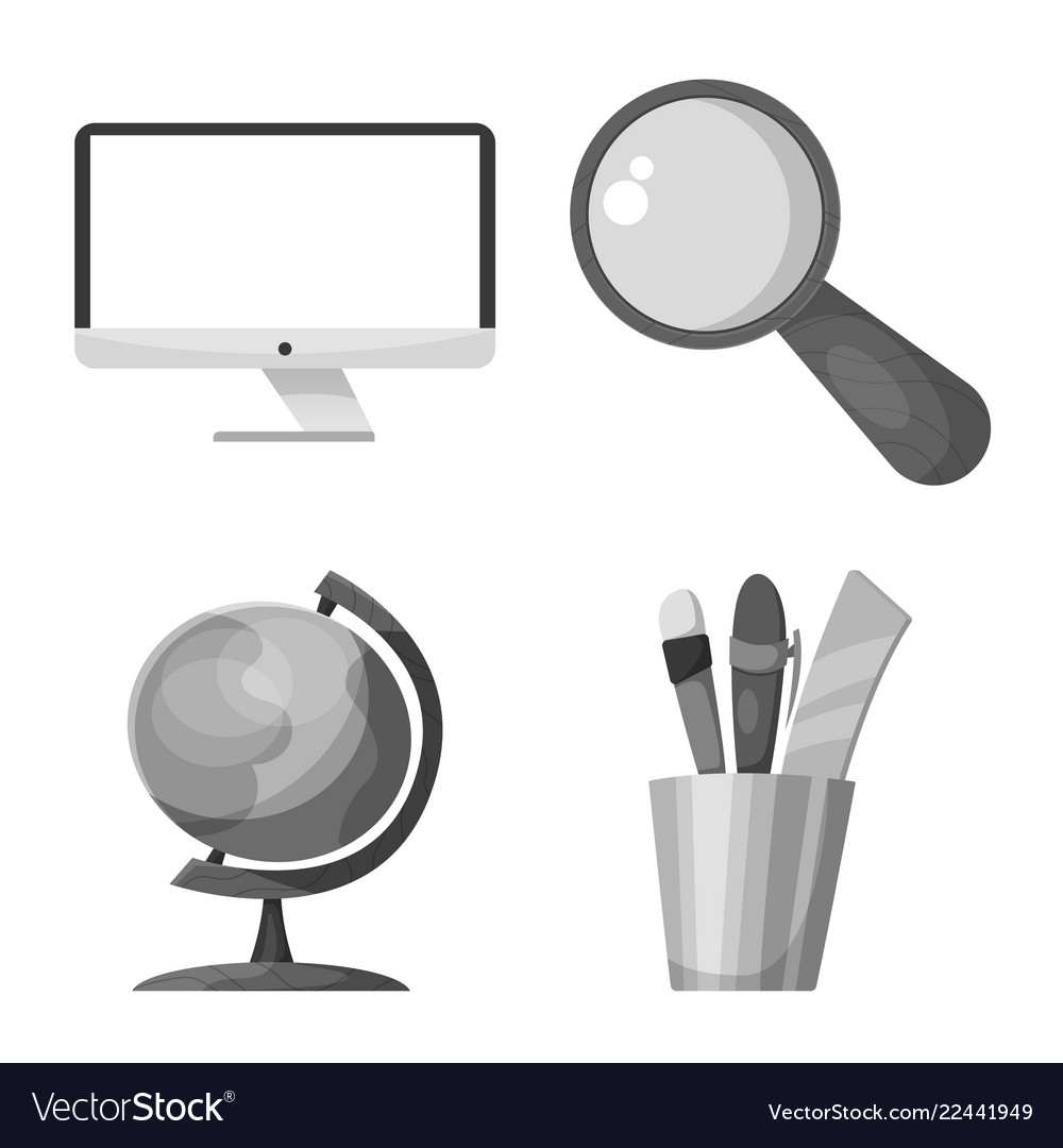 Isolated object education and learning logo