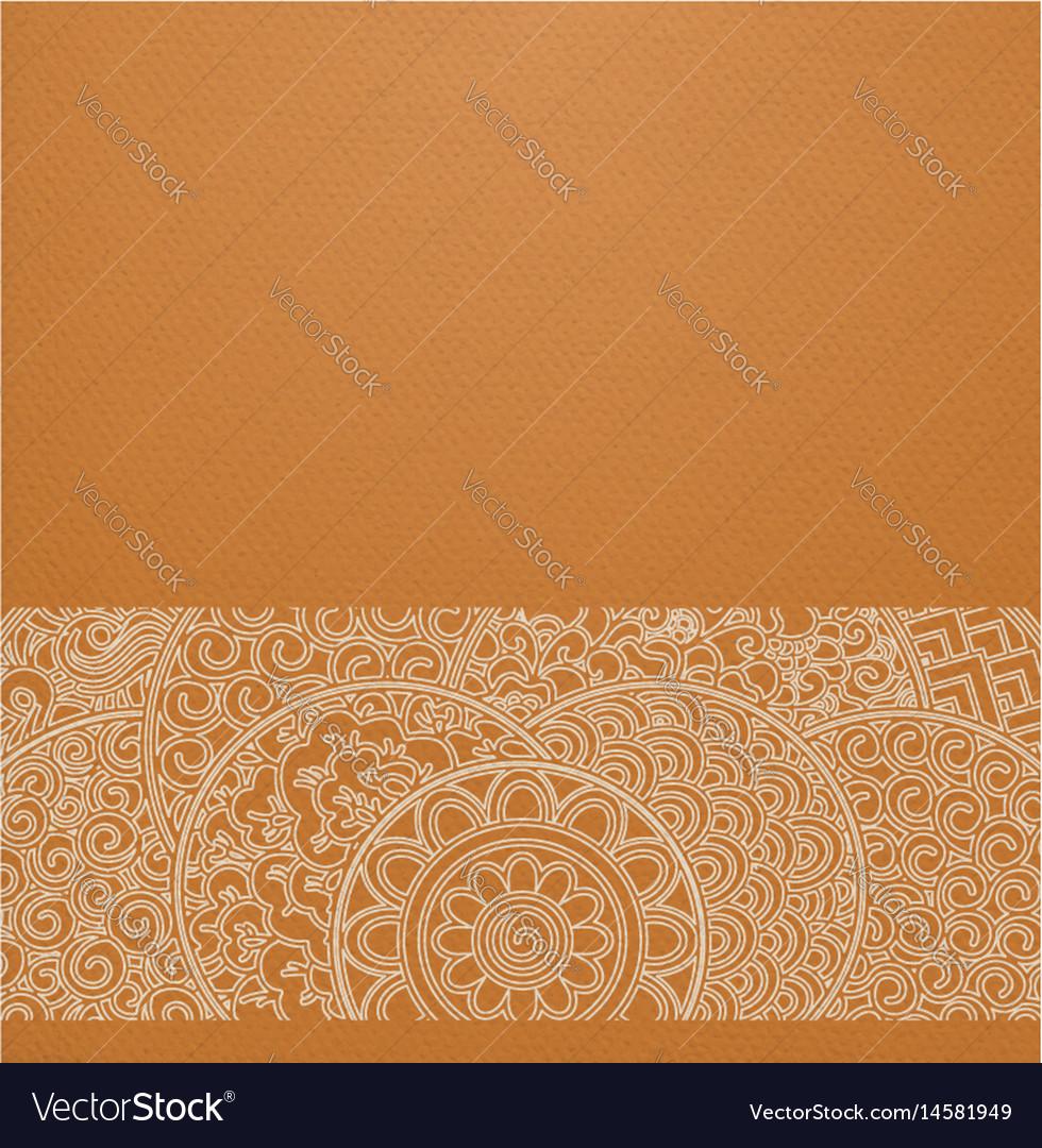 Orange circles japanese ornament vector image