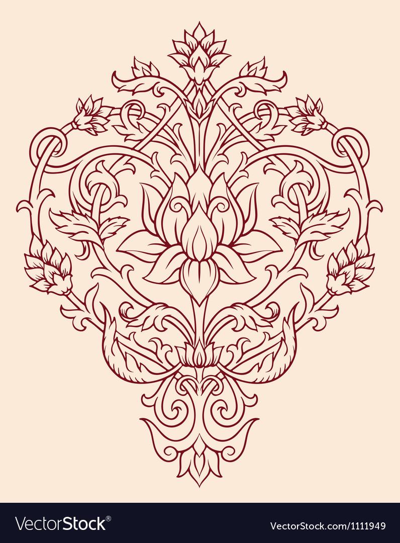 Ornage Lotus Flower