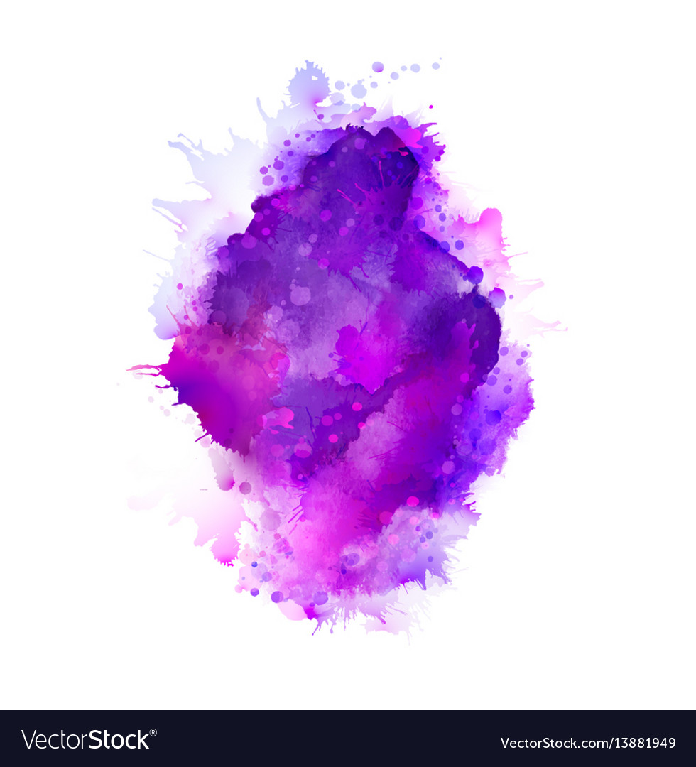 Purple violet lilac and blue watercolor stains