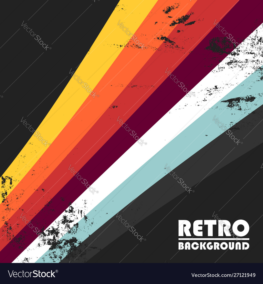 Retro background with colorful stripes and