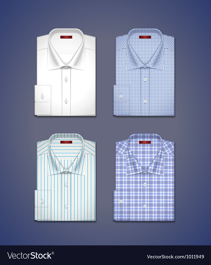 Set of a classic shirts vector image